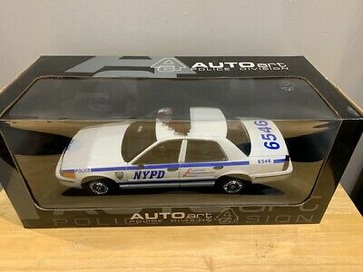$ CDN329.99 • Buy 1/18 AUTOART FORD CROWN VICTORIA NYPD (NEW YORK) POLICE CAR Rare Diecast WOW