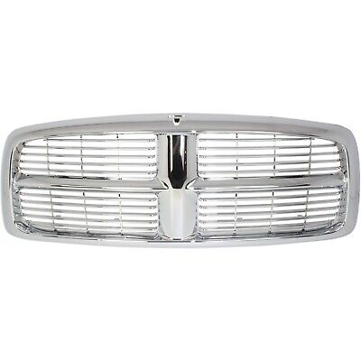 $97.81 • Buy Grille For 2002-2005 Dodge Ram 1500 2003-2005 Ram 2500 Chrome Plastic