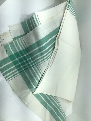 Vintage French Linen Table Cloth Tablecloth • 12£