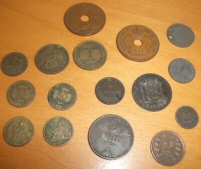 Assortment Of Foreign Coins - 16 Coins, East Africa, Guernsey, French, German  • 4£