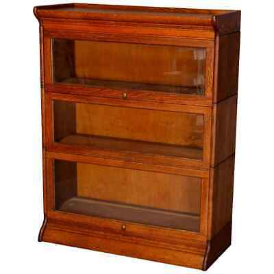 $1087.50 • Buy Antique Arts & Crafts Mission Oak GRM 3-Section Barrister Bookcase, Circa 1910