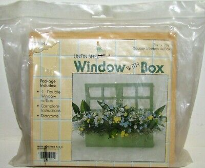 $9.99 • Buy Wangs International Crafting Unfinished Wooden Double Window With Box