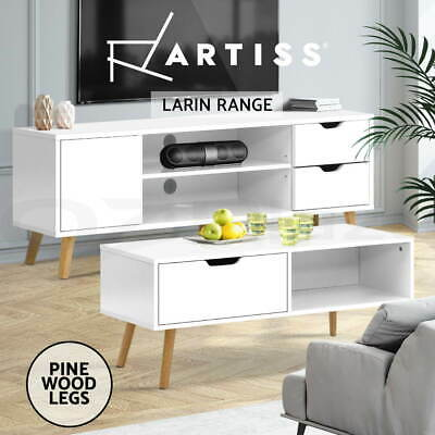 AU77.95 • Buy Artiss TV Cabinet And Coffee Table Entertainment Unit Stand Storage Drawers