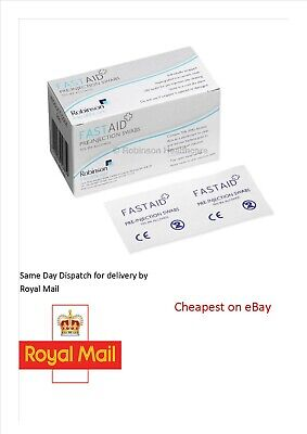 £2.86 • Buy 70% IPA Fast Aid Alcohol Wipes Pre-Injection Swabs TATTOO NAIL
