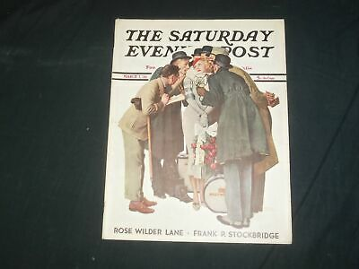 $ CDN74.99 • Buy 1936 Mar 7 The Saturday Evening Post Magazine - Norman Rockwell Cover- Sp 2483q