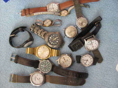 $ CDN28.14 • Buy VINTAGE LOT Of 14 MEN's WATCHES ~ Timex Rodania Benrus Tissot Signal Citizen ++