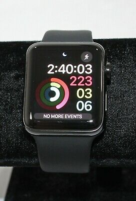 $ CDN165.40 • Buy Apple Watch Ser 3 Space Gray 42mm GPS + Cell Stainless Steel W/Sapphire Crystal