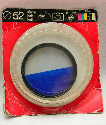 Filter 52mm Half Filter Blue And Half White For Nikon Canon Sony • 11.06£
