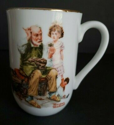 $ CDN15.16 • Buy Norman Rockwell Porcelain Coffee Mug  The Cobbler   1982 ~ Used (2 Available)