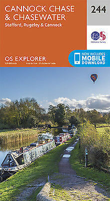 Cannock Chase Explorer Map 244 Ordnance Survey • 7.25£