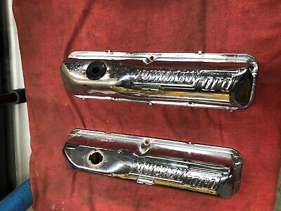 $115 • Buy Ford Fe Oem Chrome Power By Ford Valve Covers 428 427 406 410 390 352 360 Bbf
