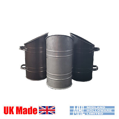 Coal Hod/Scuttle/Pail Straight Sided Galvanised, Black & Copper Black, UK Made • 15.50£