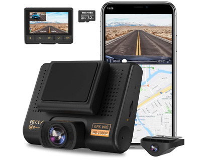 AU128.79 • Buy Dual Dash Cam, AQP Full HD 1080P Car Camera Front And Rear For Cars