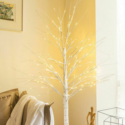 Easter Tree Decorations With Lights Led Birch Tree Light Up White Twig Tree 60cm • 16.31£