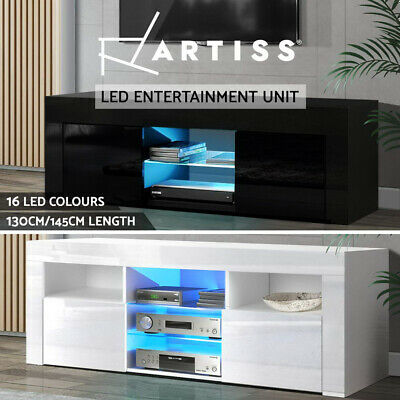 AU159.95 • Buy Artiss TV Cabinet Entertainment Unit Stand RGB LED Gloss Furniture 130/145cm