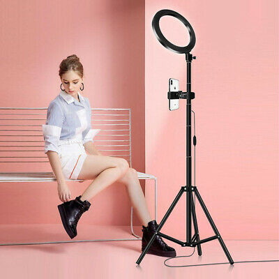 1.5M Studio LED Ring Light Tripod Stand Dimmable Photo Video Lamp Kit For Camera • 31.19£