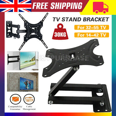 TV Wall Bracket Mount Tilt & Swivel For 32 37 40 42 43 50 55 Inch Monitor LCD • 10.99£
