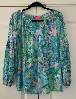 $70 • Buy NWT Lilly Pulitzer Winsley Top In Multi Lilly's House Size Medium Free Ship $128
