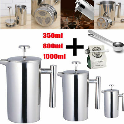 £17.99 • Buy Modern Cafetiere French Press Coffee Maker Stainless Steel 3/6/8 Cup Plunger DIY