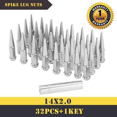 $58.99 • Buy 32 PCS SPIKE LUG NUTS M14x2 CHROME 4.4  TALL For 99-02 Ford F-350 WITH WARRANTY