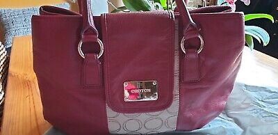 AU35 • Buy Gorgeous  Oroton  Large Deep Red Pebbled Leather Handbag