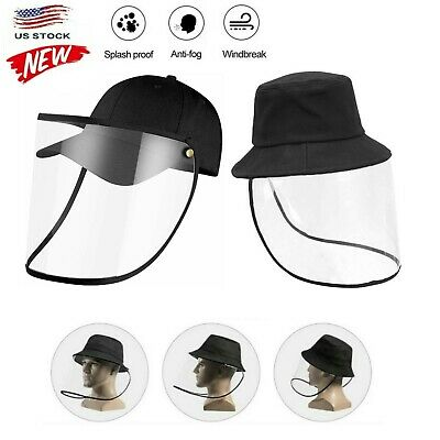 $8.99 • Buy Fisherman Cap + Protective Clear Full Face Cover Dust-proof Sun Visor Hat Unisex