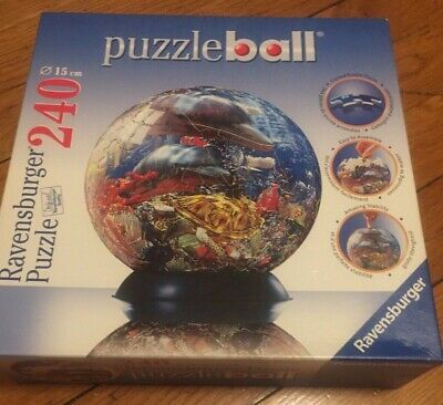 $14.99 • Buy Ravensburger Ocean World Dolphins Sea 3-d Puzzle Ball Sphere 240 Piece