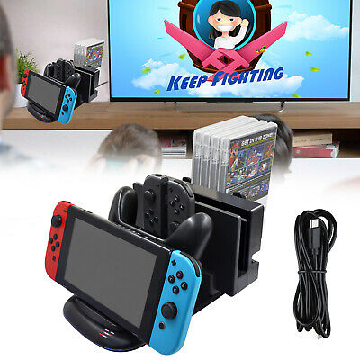 $21.57 • Buy 4 Port Controller Charging Dock Station For Nintendo Switch Console /Joy-con/Pro