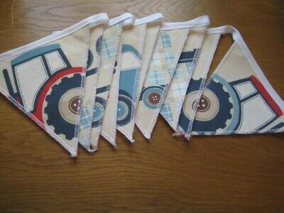 Tractors & Trucks  Laura Ashley Handmade Bunting Children/nursery 10  Flags • 19.95£