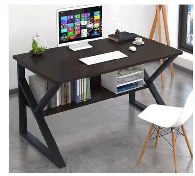 AU179 • Buy Desk Home Office Black Nook Table Console Study Cabinet Drawer Storage Modern