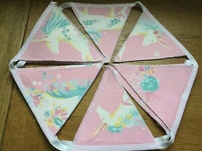 Unicorns  Laura Ashley Handmade Bunting Children/nursery 10 Double Sided Flags • 19.95£