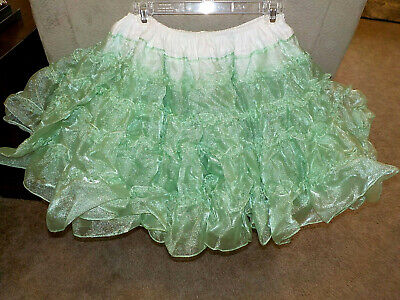 $19.99 • Buy Royal Petticoats Square Dance Mint Green Shimmery Shiny 40/20 4 Tiers