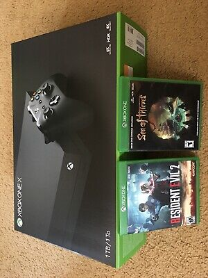 $205 • Buy Microsoft Xbox One X 1TB Console - Black Excellent Condition With Games.fortnite