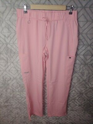 $14 • Buy Greys Anatomy By Barco Signature Size M Drawstring Pink Cargo Scrub Pants