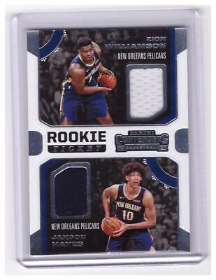 $10.50 • Buy 2019-20 Contenders Zion Williamson Hayes Rookie Dual PATCH Jersey Card !!!