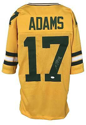 $ CDN1.40 • Buy Devante Adams Autographed Pro Style Yellow Color Rush Jersey JSA Authenticated