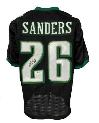 $ CDN36.76 • Buy Miles Sanders Autographed Pro Style Black Jersey BECKETT Authenticated