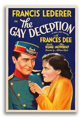$ CDN23.97 • Buy The Gay Deception - 1930s Vintage Style Comedy Movie Poster - 20x30
