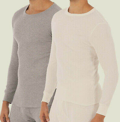 $8.64 • Buy NEW Mens Fruit Of The Loom 2 Pack Waffle Knit Thermal Underwear Shirt Size 5XL