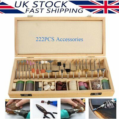 £16.99 • Buy 222PC For Dremel Rotary Tool Accessories Kit Grinding Polishing Shank Craft Bits