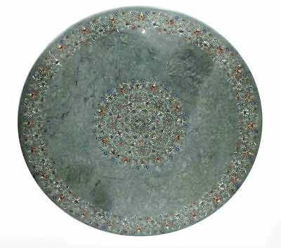 AU3985.45 • Buy 48  Round Green Marble Dining / Center Table Top Pietra Dura Inlaid Art Work