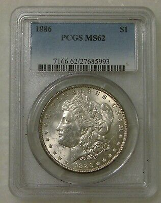 $0.99 • Buy 1886 - Morgan Silver Dollar - PCGS MS 62