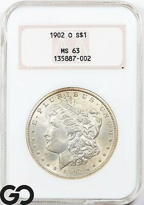 $20.50 • Buy 1902-O MS63 Morgan Silver Dollar Coin NGC Mint State 63 ** Old Fatty Holder!