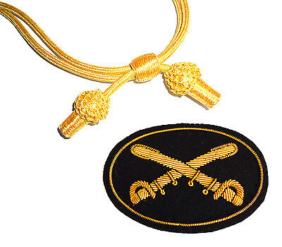 £17.99 • Buy American Indian Or Civil War Cavalry Officers Gold Hat Cord & Cavalry Badge 7x5