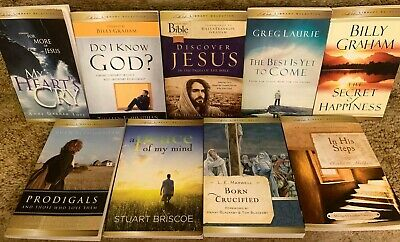 $16.60 • Buy Lot 9 Billy Graham Library Selection In His Steps Peace Of My Mind Born Crucifie