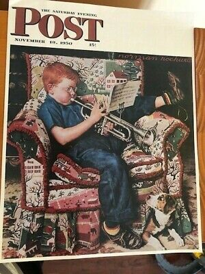$ CDN15 • Buy Norman Rockwell Saturday Evening Post Cover, The Trumpeter