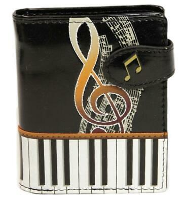 Keyboard Melody Black Leatherette Young Ladies Wallet • 19.99£