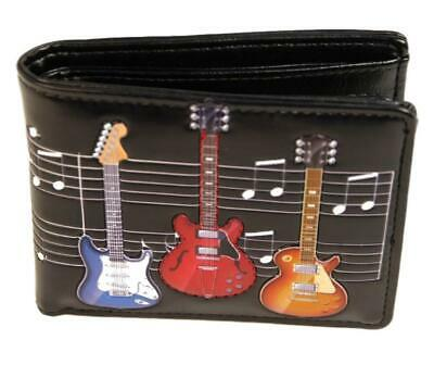 Colourful Electric Guitars Gents Leatherette Wallet • 18.99£