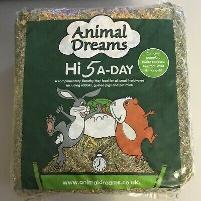 £20.95 • Buy Hi 5-a Day Timothy Hay With Added Herbs X 5 Packs