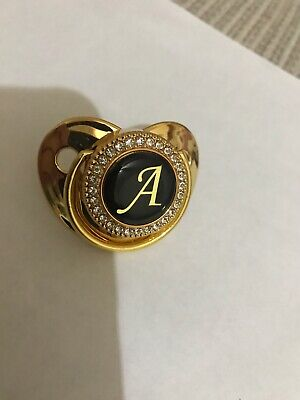 £10 • Buy Gold And Black Crystal Romany Dummy Letter (A)